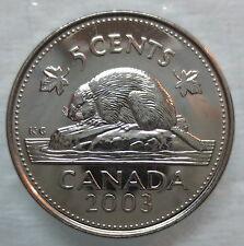 2003P CANADA 5¢ OLD EFFIGY BRILLIANT UNCIRCULATED NICKEL