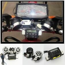 Motorcycle Dirt Bike Cruiser Chopper UTV Audio Radio MP3 Handlebar Mount Speaker