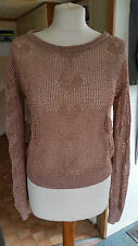 New Ladies Women's Loose Weave Dark Salmon Sexy Pullover Size 8 S by Atmosphere