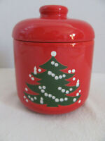 Waechtersbach Christmas Tree Red Germany -Small Cookie Jar with Lid