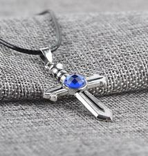 NEW  Fairy Tail Gray Fullbuster Cross Necklace Pendant Cosplay Unisex Toy Gift