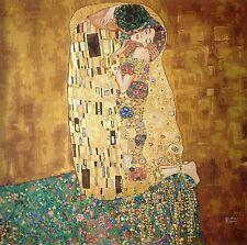 "Needlepoint Kit Tapestry Gobelin printed canvas ""The Kiss"" Gustav Klimt   649"