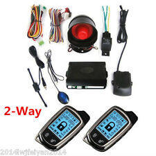 12V 2-Way Car Alarm Security System Anti-theft Super Long Distance Controler Kit