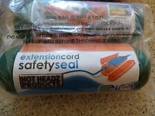"""GREEN Hot Headz Extension Cord Safety Seal Water Resistant Cover. 8""""L x 3""""dia"""