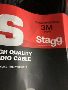 Stagg SAC3MPSBMJS  High Quality Deluxe Audio Cable