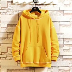 Mens Fashion Hoodie Workout Top Casual Hooded Coat Hip Hop Sweatshirt