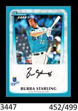 1-2011 BOWMAN DRAFT BLUE PARALLEL BUBBA STARLING ROYALS 452/499