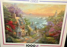 New Ceaco Thomas Kinkade Puzzle The Village Lighthouse 1000 Piece