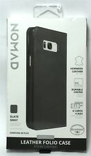 Nomad Leather Wallet Case (with Card/Cash Slots) for Samsung Galaxy S8+ - Gray