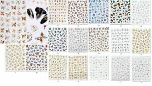 Nail Sticker - Butterfly Design Decor Decal Holographic Laser Nail Art Stickers
