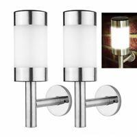 2x Outdoor Solar Powered LED Wall Lamp PIR Sensor Light Control Light Waterproof