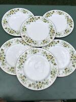 "Set Of 6 Mikasa Narumi Rose Crest 10&1/2"" Dinner Plates"