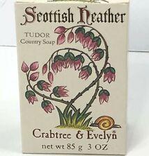 Vintage Crabtree Evelyn Scottish Heather Bar Soap 3 Oz England Tudor Country '77