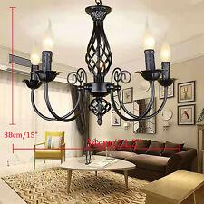 5-flammig Decken Lampe Vintage Pendel Hänge Leuchte Luster Kronleuchter E14