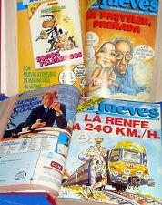 Dos tomos encuadernados de la la revista EL JUEVES nº de 562 al 608- 1988-1989