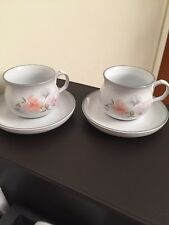 Denby Encore ~ Sweet Pea  2 x Cups & Saucers