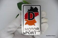 D113 Motor Sport De Auto 3D Emblem Emblem Badge Aufkleber emblema Car Sticker