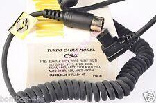 QUANTUM TURBO CABLE/MODULE CS4  DEDICATED F/SUNPAK 30,36,383,422,433,120j.. NOS.