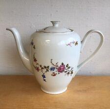 "Vintage Walbrzych Polish Large Porcelain ""Bavarian Rose"" Tea or Coffee Pot"