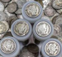 ($5 FACE VALUE!) 90% SILVER BARBER DIMES! Vintage US Coin Estate Sale Roll of 50