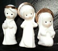Vintage Christmas Treasure Masters 2-3'' Bone China Angel LOT of 3 Taiwan