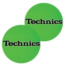 TECHNICS SLIPMATS (GREEN) panni sottodisco per dj NUOVO