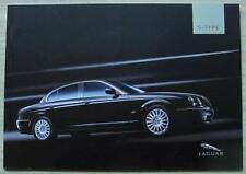 JAGUAR S TYPE Car Sales Brochure 2005 #JLM/10/02/21/05 V6 SPORT SE V8 Type R