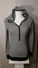Loved By Design women's Hooded sweatshirt Black-White striped M/ L
