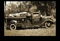 1938 Forest Service Fire Truck PHOTO Vintage Department Engine Fire Wagon, MASS