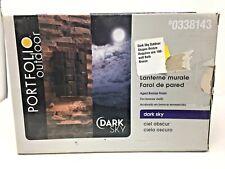 New Portfolio Dark Sky Aged Bronze Finish Outdoor Shapes Wall Light Lantern