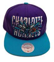 NEW VTG Mitchell Ness Hardwood Classics NBA Charlotte Hornets Snapback Hat Cap