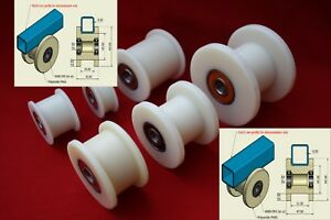 60mm Nylon Pulley Wheel Guide Gate Wheel Sliding Door Wheel Angle Bar