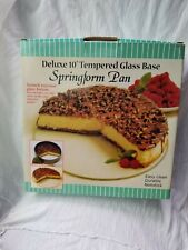 """Deluxe 10"""" Tempered Glass Base Springform  NEW"""