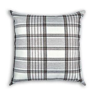 """Highland Tartan Check Plaid Cushion Covers or Filled Cushions - 17"""" / 43cm"""