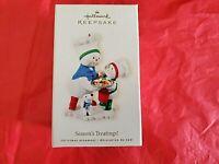 Hallmark 2008 Season's Treatings Keepsake Ornament Snowman Baking