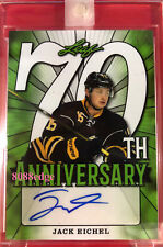 2018 LEAF 70TH ANNIVERSARY AUTO GREEN: JACK EICHEL #1/1 UNCIRCULATED AUTOGRAPH