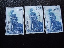 NORVEGE - timbre yvert et tellier n° 842 x3 obl (A04) stamp norway