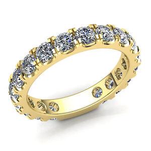 Natural 2ct Round Cut Diamond Ladies Stackable Anniversary Wedding Band 18K Gold