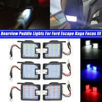 Rearview Side Under Mirror Lamp Puddle Light For Ford Focus C-Max II Kuga