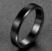 Ring Schwarz Keramik  Gebürstet 4 mm Breit  (0)