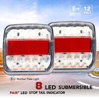 2PCS de feux Remorque Bord LED Arrière Frein Indicateur Stop caravane 12v