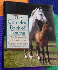 Horse book equine FOALING An Illustrated Guide for Attendant HB/DJ