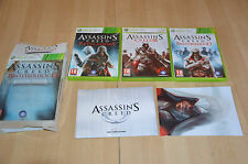lot 3 jeux XBOX 360 ASSASSINS Creed II 2, Revelations et Brotherhood Auditore