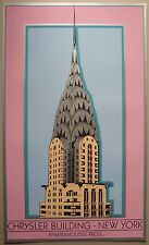 Affiche/poster sérigraphie Chrysler Building New York/serigraph print 80's