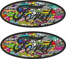 2x ford badge With Colour JDM Drift Style Sticker Bomb Motiif car sticker