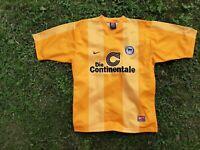 Hertha away football shirt 1999/2000 Jersey NIke Soccer Germany Yellow Camiseta