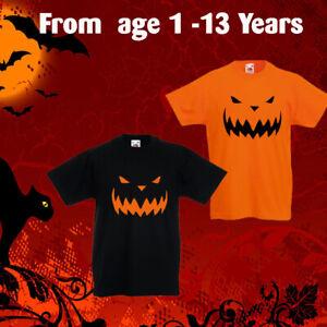 Halloween Costume, Fun Kids Boys Girls Orange& Black Top T-Shirt Pupkin Tee gift