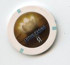 New Listing1.00 Casino Chip from the Lotus Casino Sacramento California