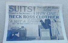 Vintage Department Store Black and White Photograph Heck Ross Clothier
