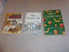 3 Christmas Paperback Books-Vintage
